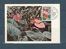 carte  1er jour  fleur anthurium de la Martinique 972 Fort de France  1973
