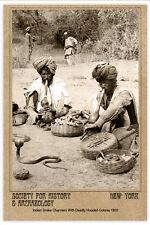 CALCUTTA SNAKE CHARMERS 1903 India  PHOTOGRAPH CARD VINTAGE A+ Reprint