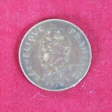 100 FRANCS COIN FRANCAISE REOUBLIQUE 1976 POLYNESIE VINTAGE COIN GREAT DETAIL