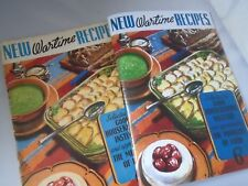 WW2 recipes book~1940's~Cakes Baking_cooking_desserts ration women housekeeping