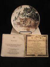 The Snow Cave Lynx with Cub by Nancy Glazier Collector's Plate with Box & Coa