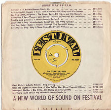 COL JOYE - OH YEAH UH HUH / LIVING DOLL Very rare 1959 Aussie only R'N'R Single!