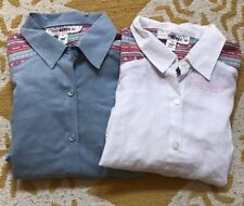 Lot of 2 I'm In Love With Derek Button Front Shirts medium med M