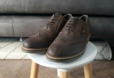 Mens BARBOUR Brown Nubuck Leather Lace Up Brogue Shoes, Size 10, NEW, RRP £125