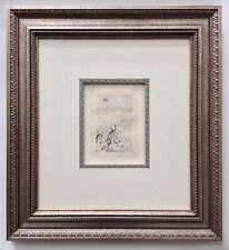 """Pierre-Auguste Renoir """"Sur la Plage a Berneval"""" Etching, Framed 16"""" x 18"""""""
