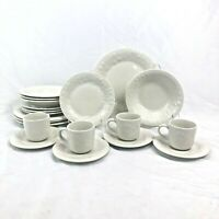 NEW 20 PIECE SET GIBSON FRUIT OFF WHITE DINNERWARE DINNER SALAD BOWL CUP SAUCER