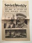 KL) USSR Soviet Weekly Newspaper 28 Years Stalin Lenin Moscow November 8 1945
