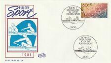 GERMANY 10 APRIL 1981 SPORTS FIRST DAY COVER BONN SHS