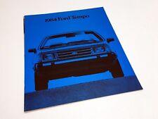 1984 Ford Tempo L GL GLX Brochure