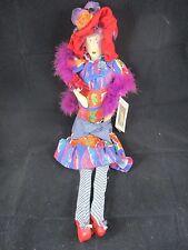 Vintage Carmen Manago Mavis Red Hat Lady Rag Doll Plush w/ Tag 24 Inches Tall