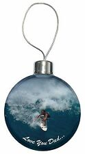 Riding the Surf 'Love You Dad' Christmas Tree Bauble Decoration Gift, DAD-155CB