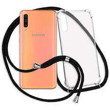 Handykette Handy Hülle Band für Samsung Galaxy A50 (SM-A505 /6.4'')- transparent