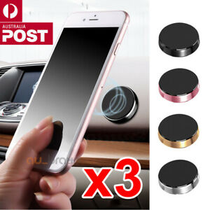 3x Universal Magnetic Magnet Dashboard Mobile Phone Holder Dash Car Mount Stand