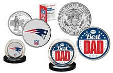 Best Dad NEW ENGLAND PATRIOTS 2-Coin Set Quarter and Half Dollar NFL LICENSED