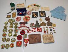 Huge LOT of Vintage WWII 1950's Boy Eagle Scouts PATCHES EMBLEM PINS Medal 8E