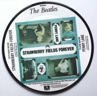 "New! Beatles Picture Disc 7"" Vinyl Strawberry Fields Forever Penny Lane 20th Ann"