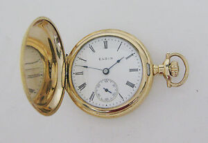 Antique 1910 Elgin with Fahys Gold Filled Case 15 Jewels Grade 354 Pocket Watch