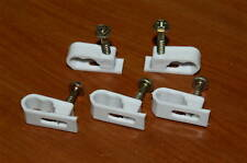 LOT OF 10 DUAL FLEX CABLE CLIPS WITH SCREWS RG6 OR RG59