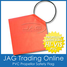 PROPELLOR SAFETY SIGNAL FLAG - HI-VIS ORANGE PVC - Boat/Marine/Trailer/Long Load