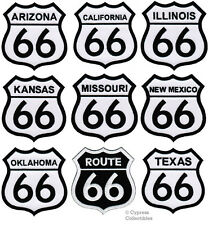ROUTE 66 IRON-ON PATCHES - EMBROIDERED HISTORIC STATE ROAD SIGNS applique LOT
