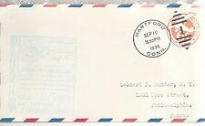 Brainard Field Dedication Hartford CT 9/10/1939 6 Cent Airmail Embossed Envelope