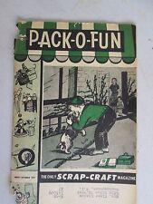 Pack-O-Fun August - September 1957 Scrap-Craft Magazine