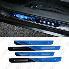 4PCS For Toyota Corolla 14-2016 Door Sill Scuff Platel Cover Trim -  Blue Steel