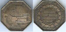 Jeton - Réunion des trois commerces 1843 argent main 18 gr d=34mm