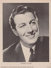 RARE VINTAGE 1936 ROBERT TAYLOR PROMO PHOTO SUPPLEMENT FROM PHILADELPHIA RECORD