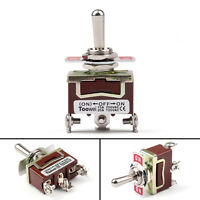 1PCS Toggle Switch 3 Terminal 3Pin (ON)-OFF-ON 15A 250V SPDT Industrial Grade SS