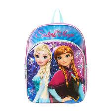 Disney Princess Frozen Sisters Are Magic Backpack Bookbag Faux Hair Elsa Anna