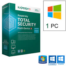 ANTIVIRUS KASPERSKY TOTAL SECURITY 2019  1PC LICENZA 1 ANNO