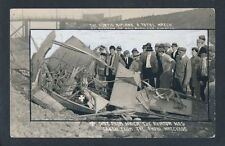 1911 WRECK OF CROMWELL DIXON, Early Aviation RARE Real Photo Postcard