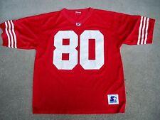 Vintage Starter Jerry Rice 80 San Francisco NFL Football Jersey Uniform Large LG