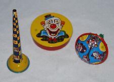Vintage Tin Party Noise Makers Metal Toys