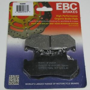 EBC FA69 ORGANIC Brake Pads for Ultima and DNA 4-Piston Calipers Made in the UK