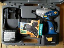 """Draper EXPERT 14.4V Impact drill screw Driver Battery cordless CID144VK 1/4"""" 14v"""