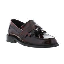 IKON Hove Mens Original Black Leather Tassel Loafer Mod Shoe