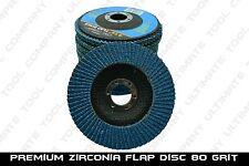 """10pc Premium Zirconia Flap Disc 4-1/2"""" x7/8"""" 80 Grit Grinding Wheel Metal Steel"""