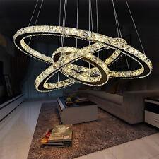 Dimmbar Hängeleuchte LED Kristall Deckenlampe Pendelleuchte Lüster Kronleuchter