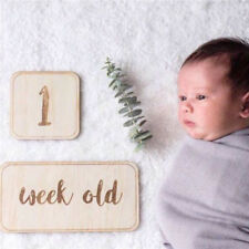 Memorial Kids Baby Birthday Photo Props Milestone Wooden Card Decoration Sl3