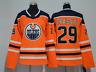 Leon Draisaitl Edmonton Oilers #29 Stitched Jersey orange Men's Player Game