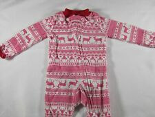 Carter's Pink and White Holiday Reindeer One Piece – Newborn – Preowned