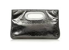MICHAEL KORS Berkley Leather Clutch Bag - Silver/Gunmetal