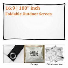 100'' HD Projector Projection Screen16:9 Portable Foldable For Outdoor Camping