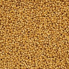 Miyuki Taglia 15/0 ROUND Seme Perline 24K Oro Placcato 8.2 G Tubo (M103/7)