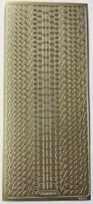 Sheet of Mixed Gold Scrapbook Borders Circles Squares Line Stickers 248-1