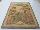 LargeVintage French Beautiful Forest Scene Tapestry 147x167cm (T658)