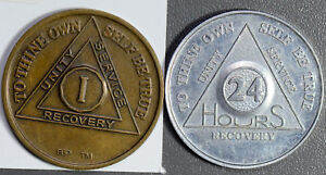 U0067   2 Tokens alcoholics anonymous combine shipping