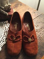 Vintage Aigner Shoes 1960/1970 Very Rare Suede Rust Size 7